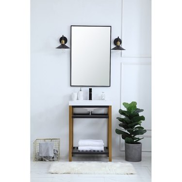 minimalist modern bathroom vanity