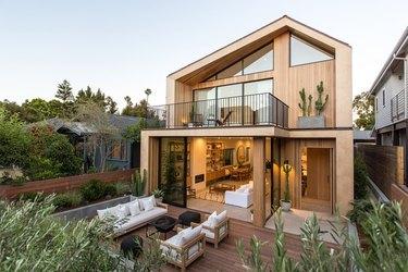 Scandi-inspired home exterior shot in Venice, Calif.