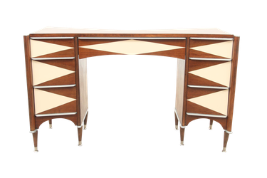 Midcentury desk with atomic styling