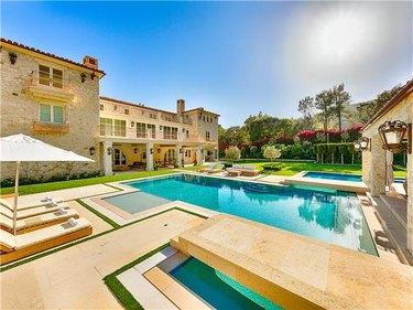 pool area near mansion