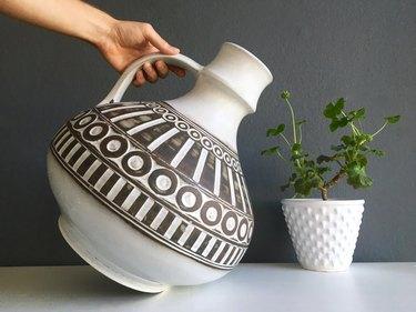 Large vintage midcentury vase