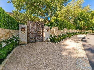 outdoor view of gated entrance