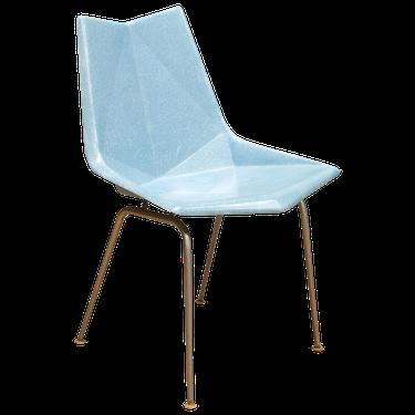 Blue midcentury chair