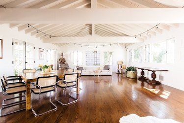 dance studio turned hollywood cottage home with bright, open interior