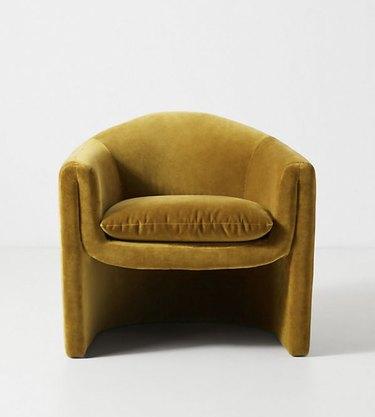 Jewel tone velvet accent chair