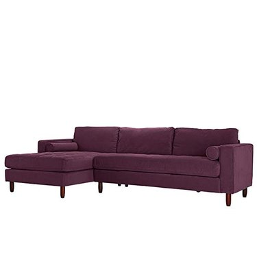 Amazon purple velvet couch