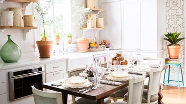 rustic wood kitchen island ideas for small kitchens with natural light and plants