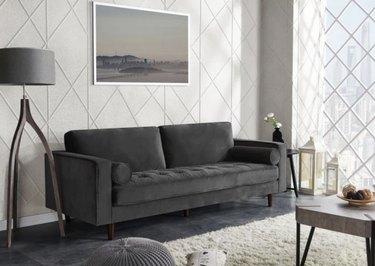 Hayneedle gray velvet couch
