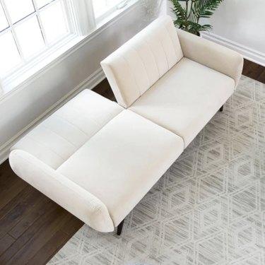 Target cream velvet couch