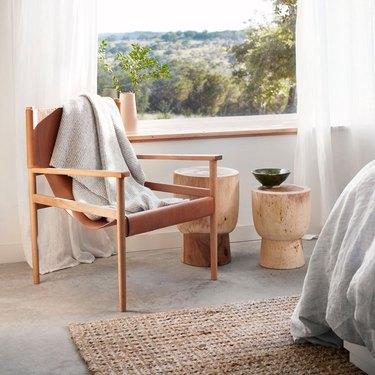sustainable wood stool side tables