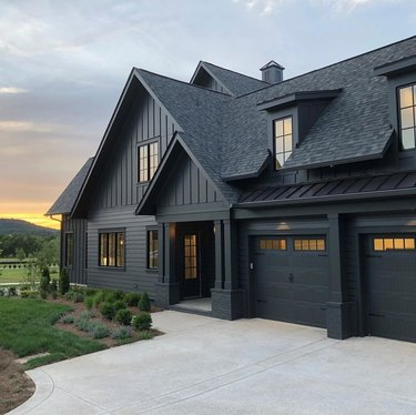 black craftsman style house