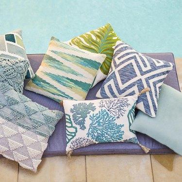 world market throw pillows