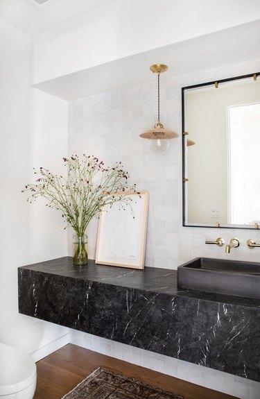 Bathroom Ceiling Light Idea by Amber Interiors Design Studio