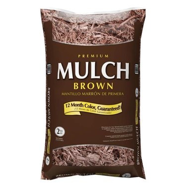 Bag of garden mulch