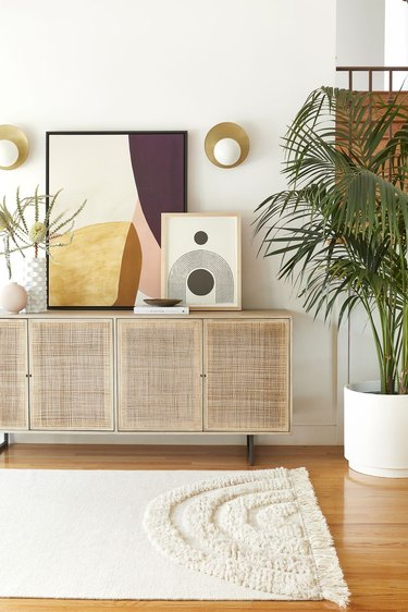 rattan and cane sideboard