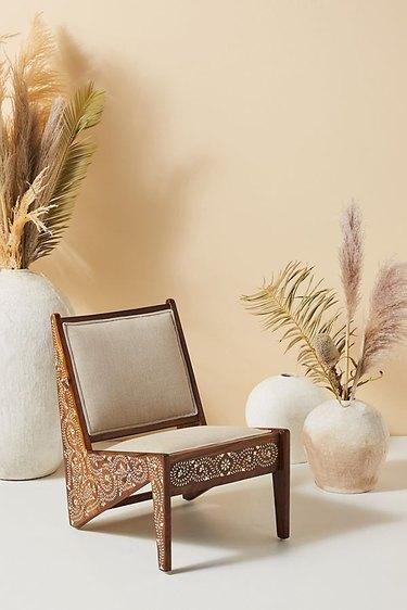 bone inlay rani accent chair