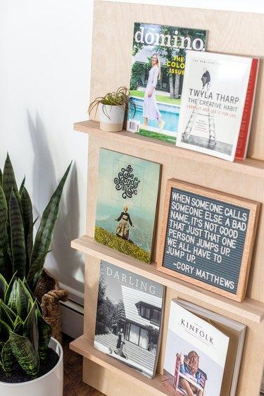 Plywood Standing Magazine Rack - DIY