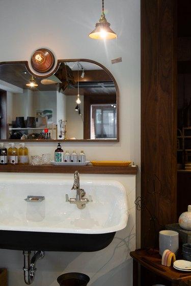 wall-mounted sink