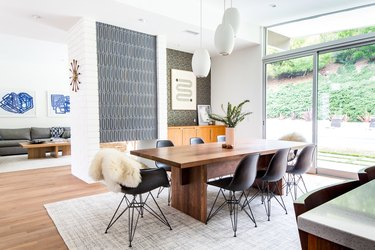 Dining room with IKEA decor