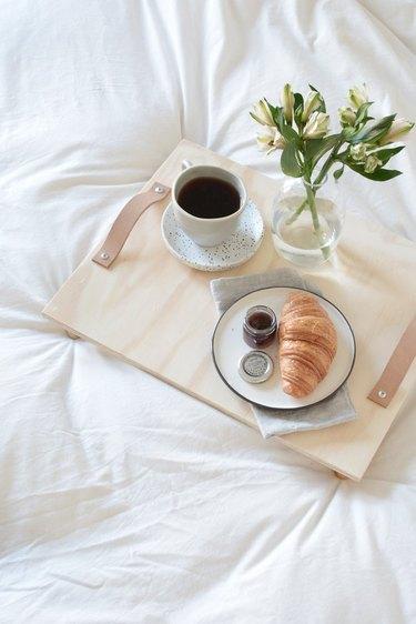 Plywood breakfast tray