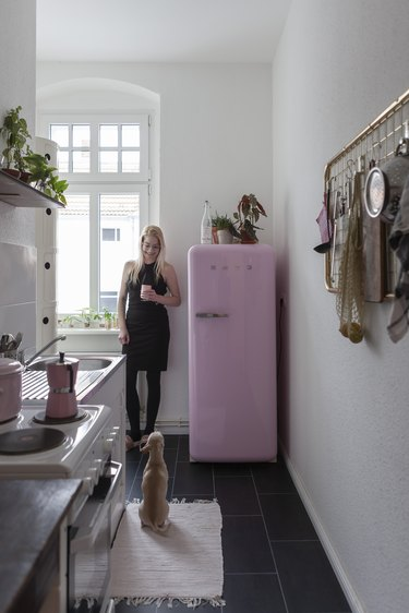 Camille Darroux at home with Gucci.
