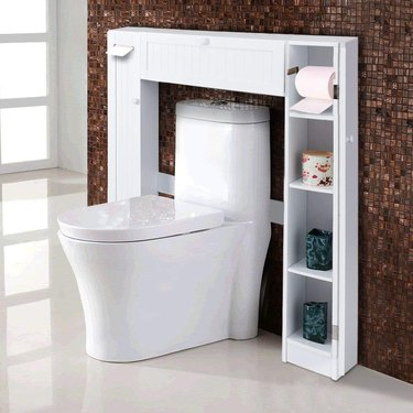 over the toilet bathroom cabinet with low profile