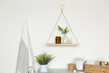 DIY Hanging Triangle Shelf