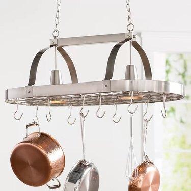 darby home kitchen pot rack