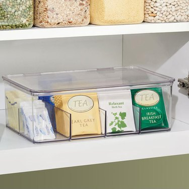 The Container Store clear tea storage box