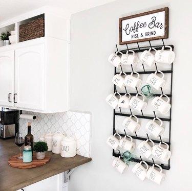 claimed corner coffee rack