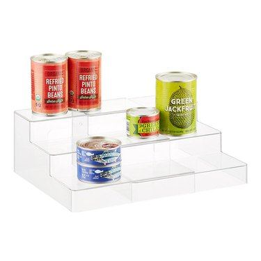 The Container Store 3-tier clear shelf