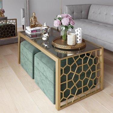 wayfair juliette glass coffee table