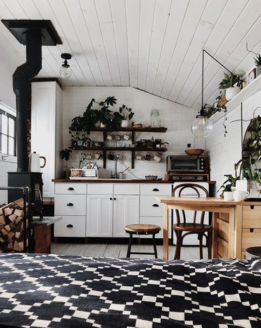 bohemian kitchen with hint of industrial
