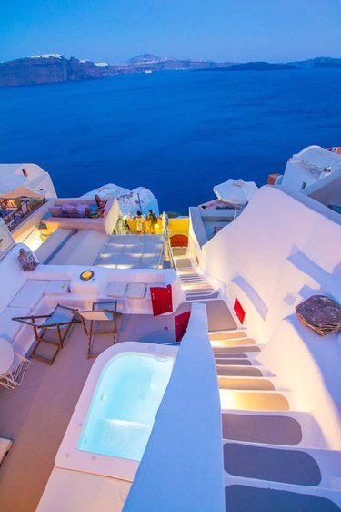 View from Hector Cave House in Santorini, Greece