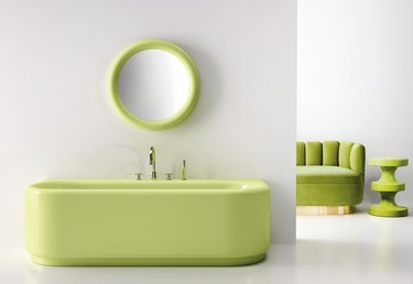 India Mahdavi for Bisazza bathtub in pistachio