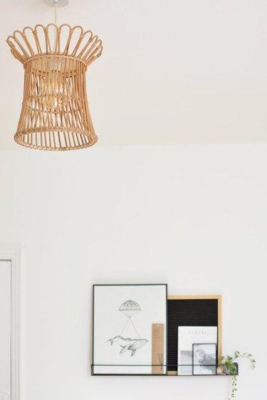 DIY IKEA hack plant stand turned pendant light