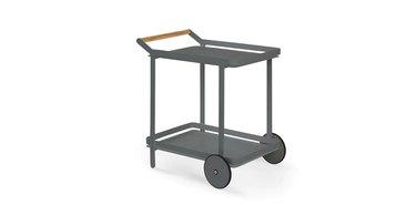 dark gray bar cart