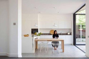Minimalist kitchen island table