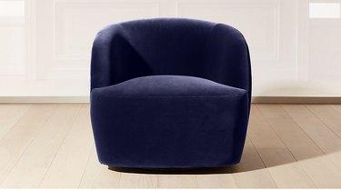 CB2 Gwyneth Navy Velvet Chair, $999
