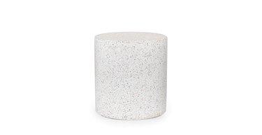white terrazzo stool