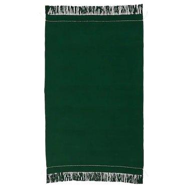 dark green throw blanket