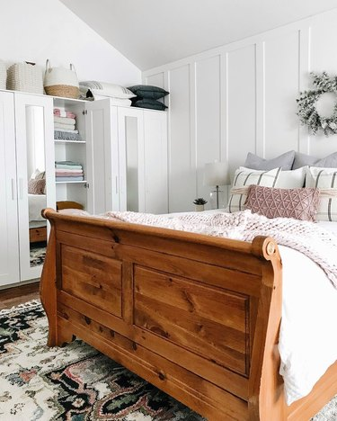 small bedroom organization ideas with wardrobe