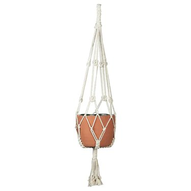 hanging planter with empty pot
