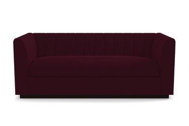 wine velvet sleeper sofa