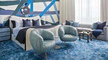art deco inspired bedroom