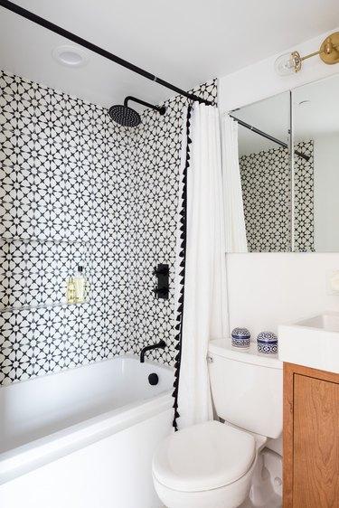 small tiled bathroom