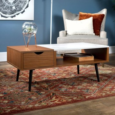Manor Park Wood and Faux Marble Coffee Table