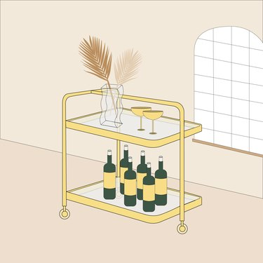 bar cart illustration