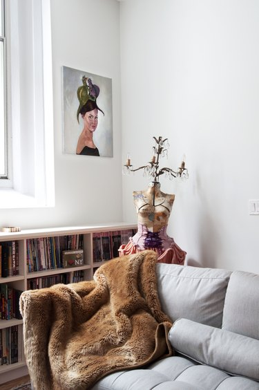 Couch and artwork