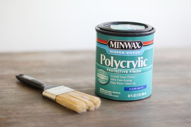 Can of clear polycrylic topcoat